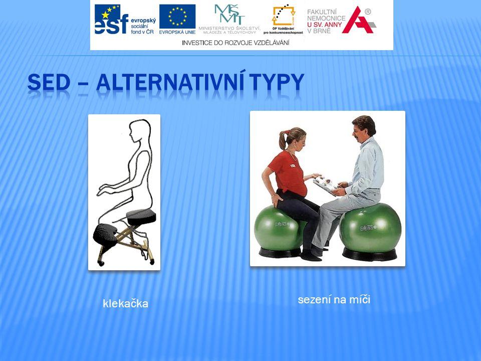 SED – alternativní typy