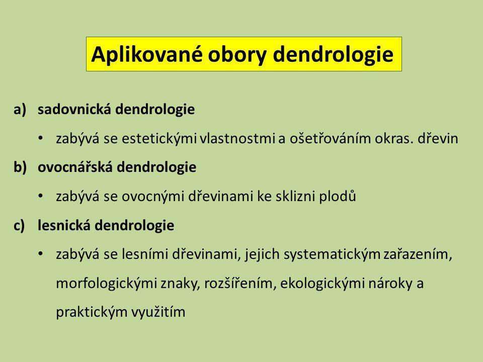 Aplikované obory dendrologie