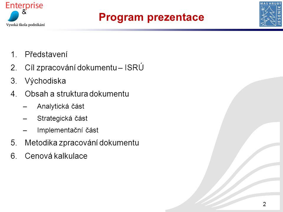Program prezentace Představení Cíl zpracování dokumentu – ISRÚ