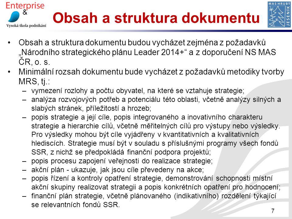 Obsah a struktura dokumentu
