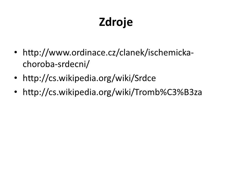 Zdroje http://www.ordinace.cz/clanek/ischemicka-choroba-srdecni/