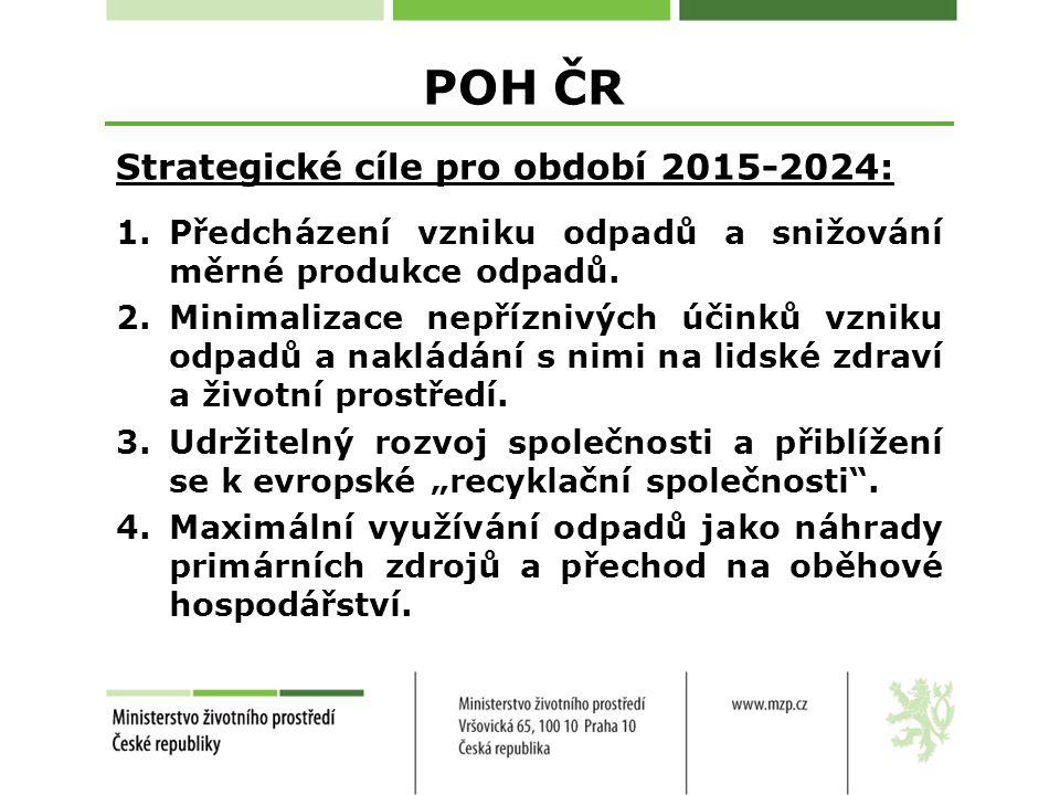 POH ČR Strategické cíle pro období 2015-2024: