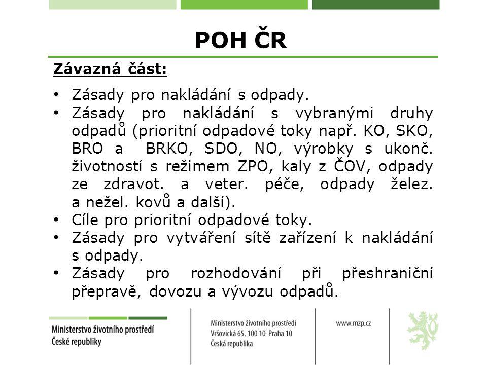 POH ČR Závazná část: Zásady pro nakládání s odpady.