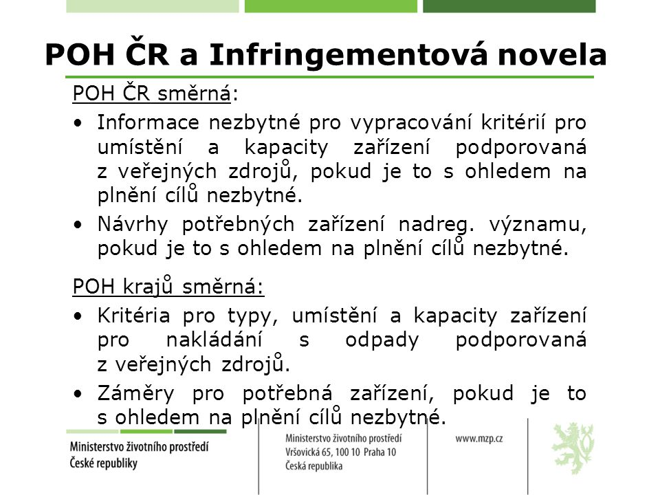 POH ČR a Infringementová novela