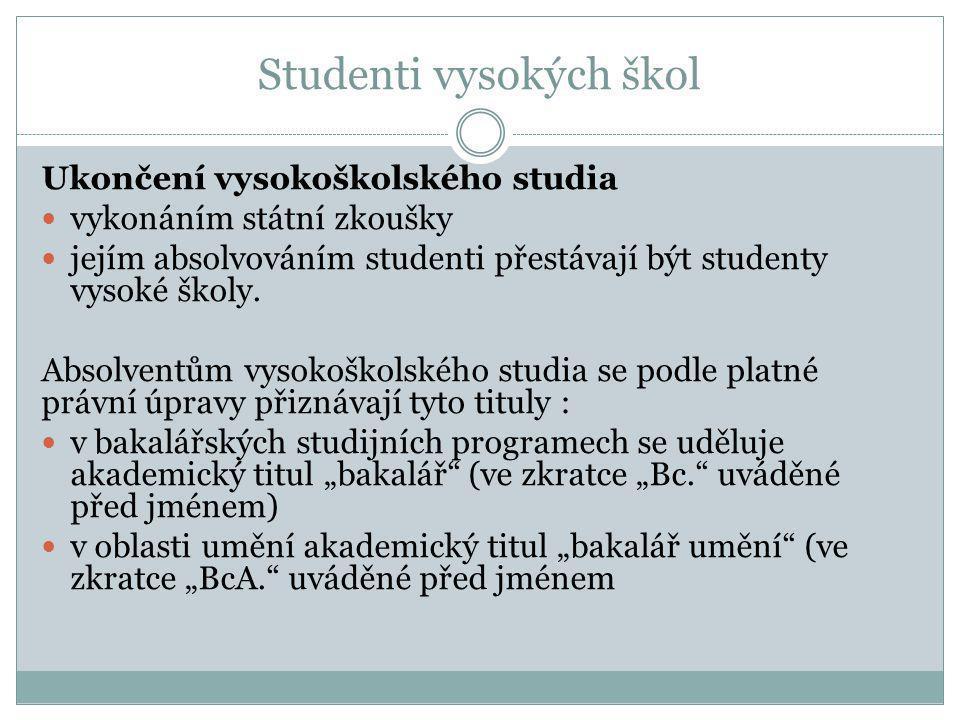 Studenti vysokých škol