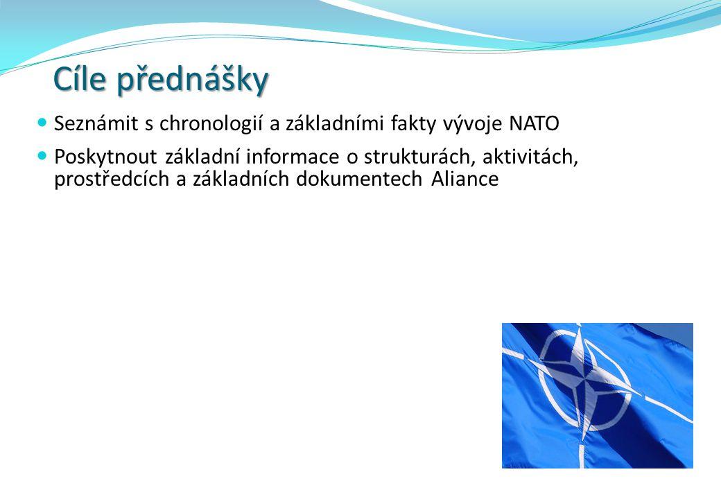 Cíle přednášky Seznámit s chronologií a základními fakty vývoje NATO