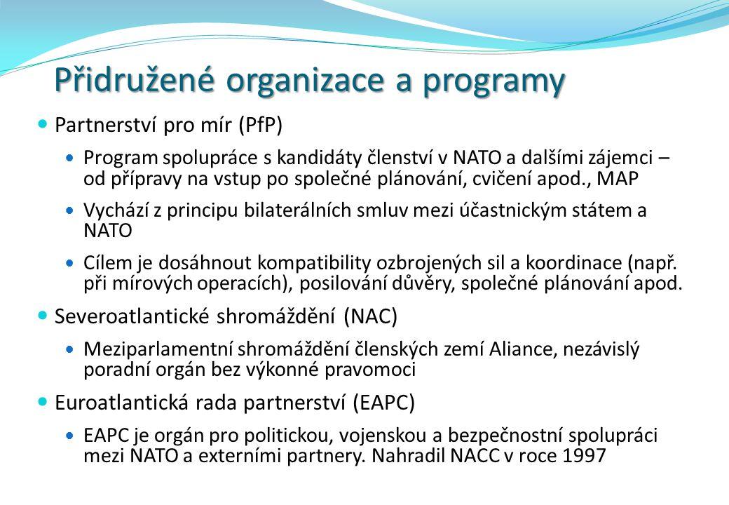 Přidružené organizace a programy