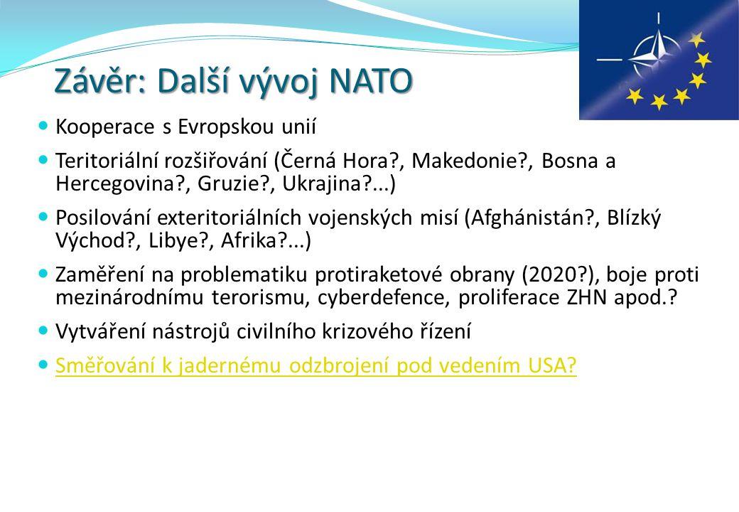 Závěr: Další vývoj NATO
