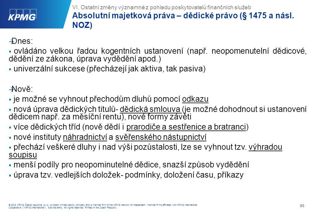 Nemajetková újma se hradí pouze v případě (§ 2984 NOZ):