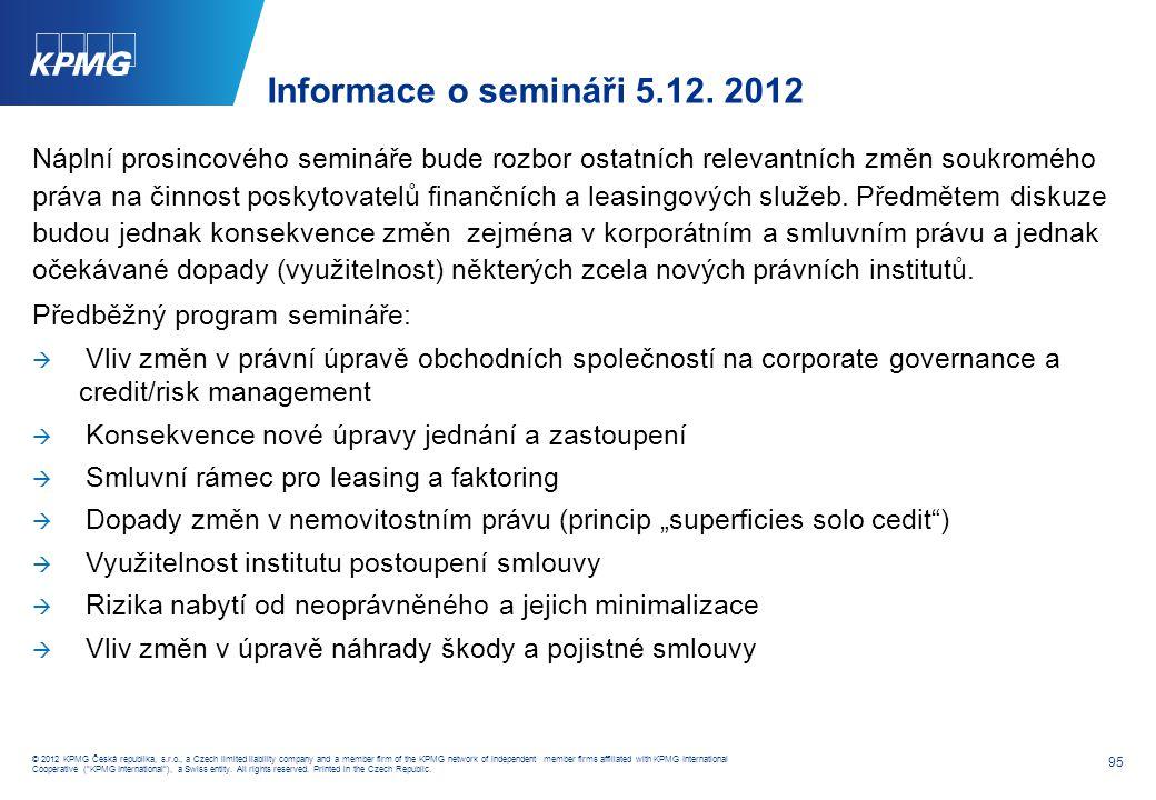 © 2011 KPMG Česká republika, s. r. o