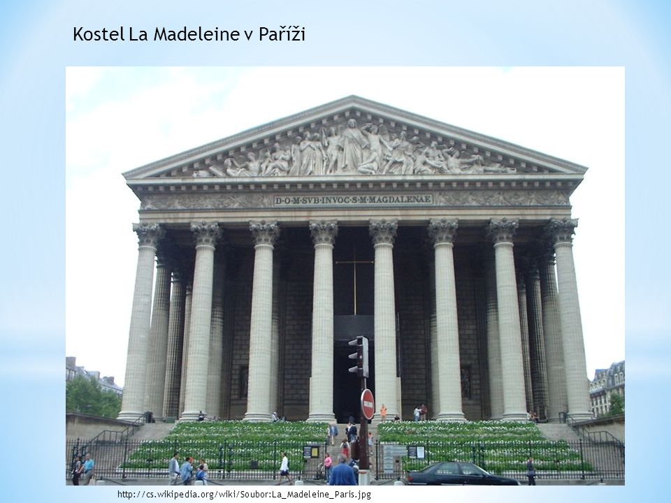 Kostel La Madeleine v Paříži
