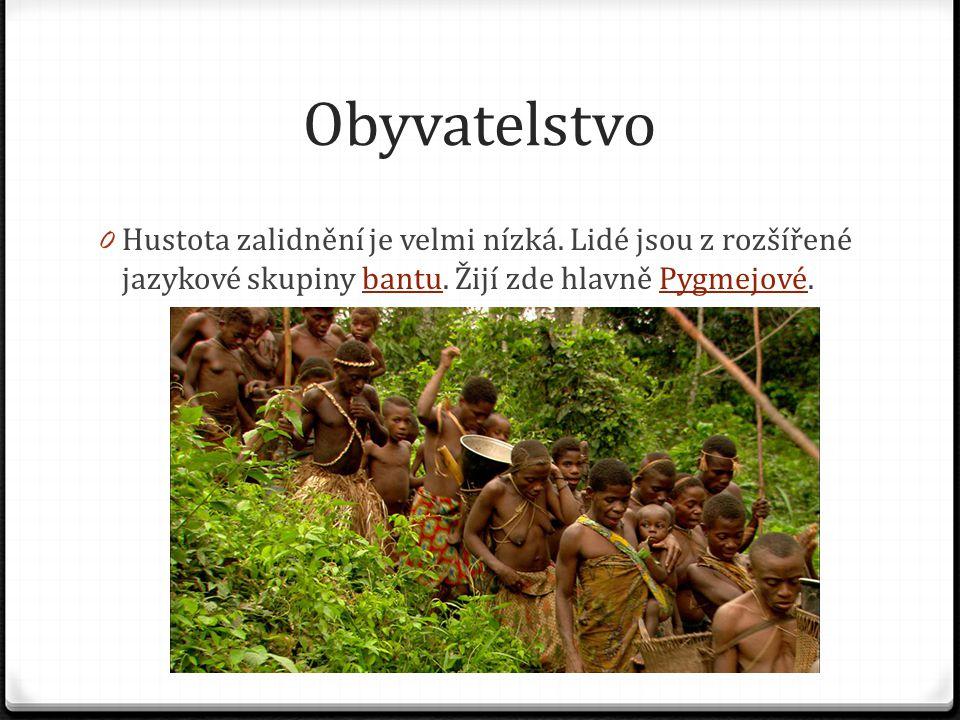 Obyvatelstvo Hustota zalidnění je velmi nízká. Lidé jsou z rozšířené jazykové skupiny bantu.