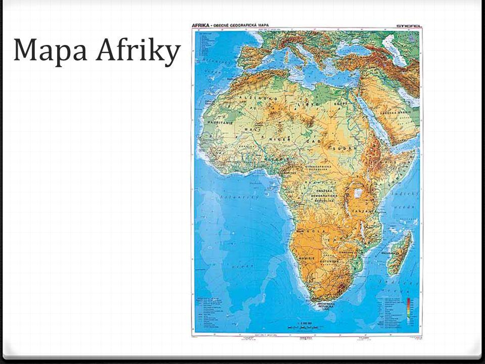 Mapa Afriky
