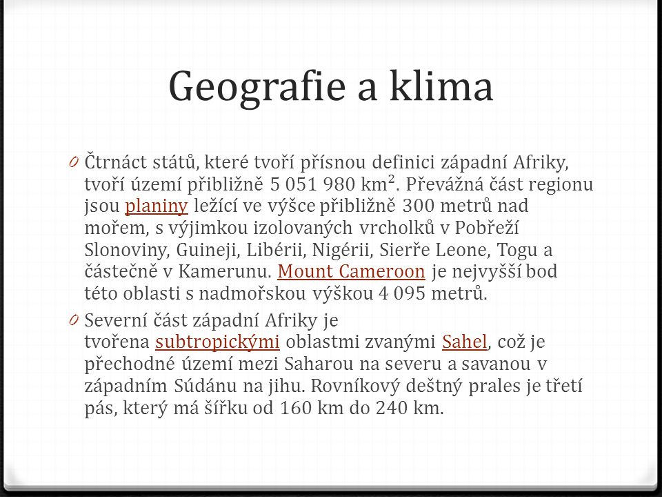 Geografie a klima