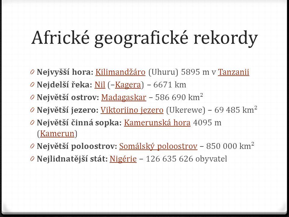 Africké geografické rekordy