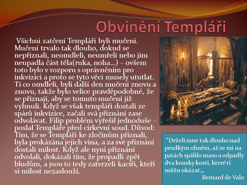 Obvinění Templáři