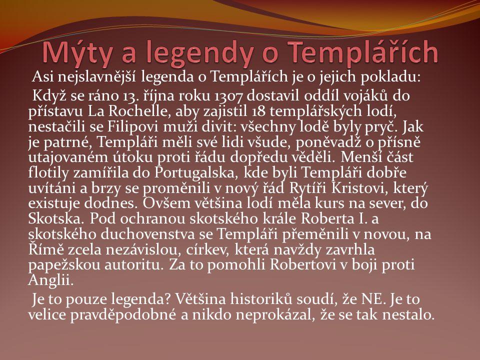 Mýty a legendy o Templářích