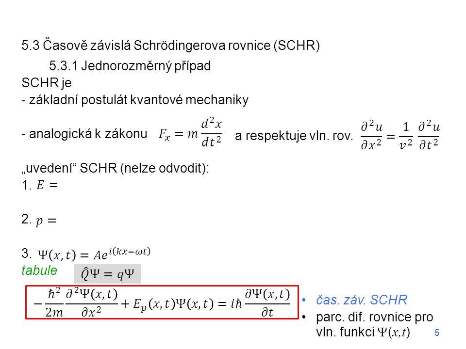 5.3 Časově závislá Schrödingerova rovnice (SCHR)