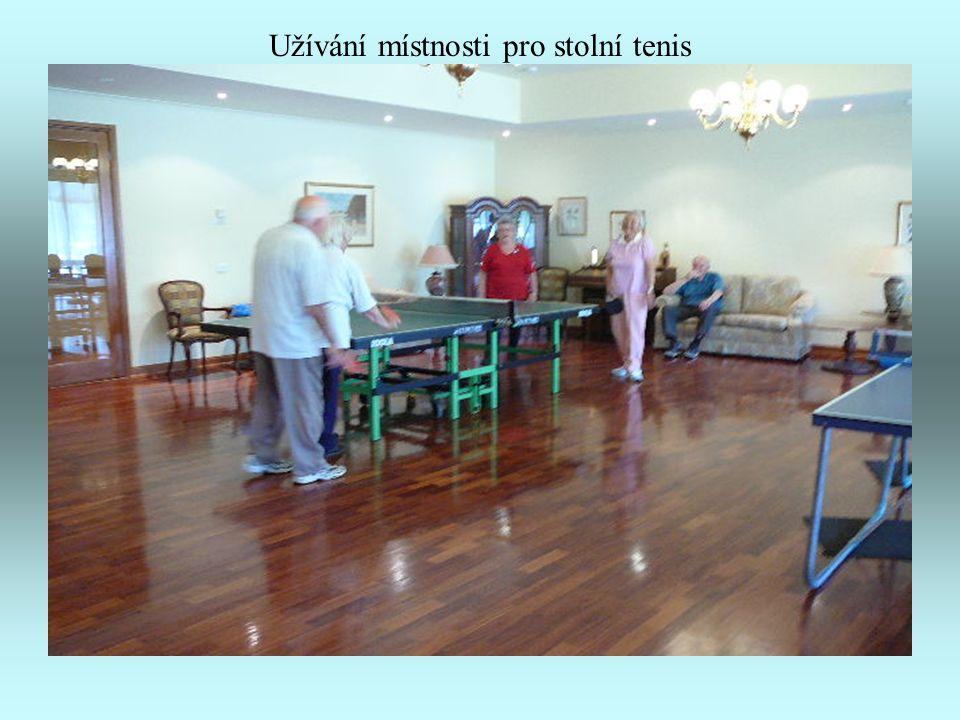 Užívání místnosti pro stolní tenis