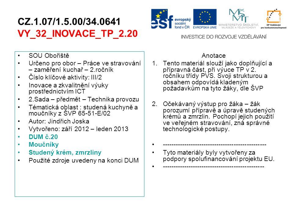 CZ.1.07/1.5.00/34.0641 VY_32_INOVACE_TP_2.20 SOU Obořiště