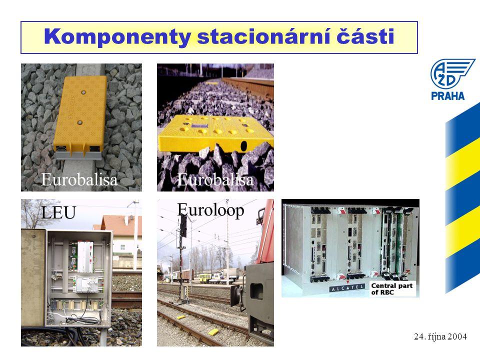 Komponenty stacionární části
