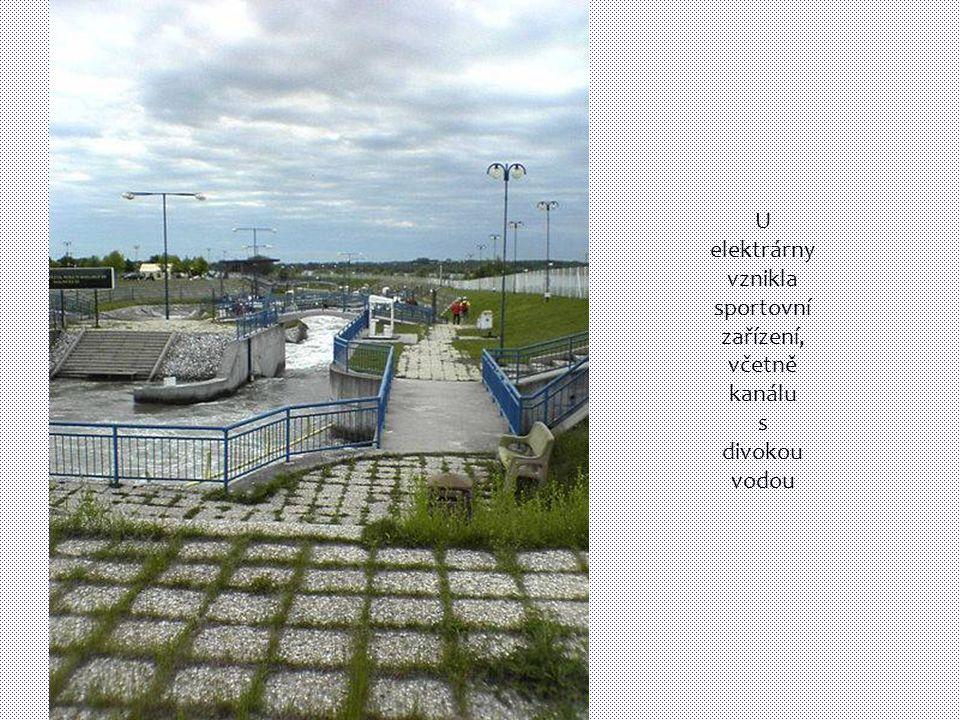 U elektrárny vznikla sportovní zařízení, včetně kanálu s divokou vodou