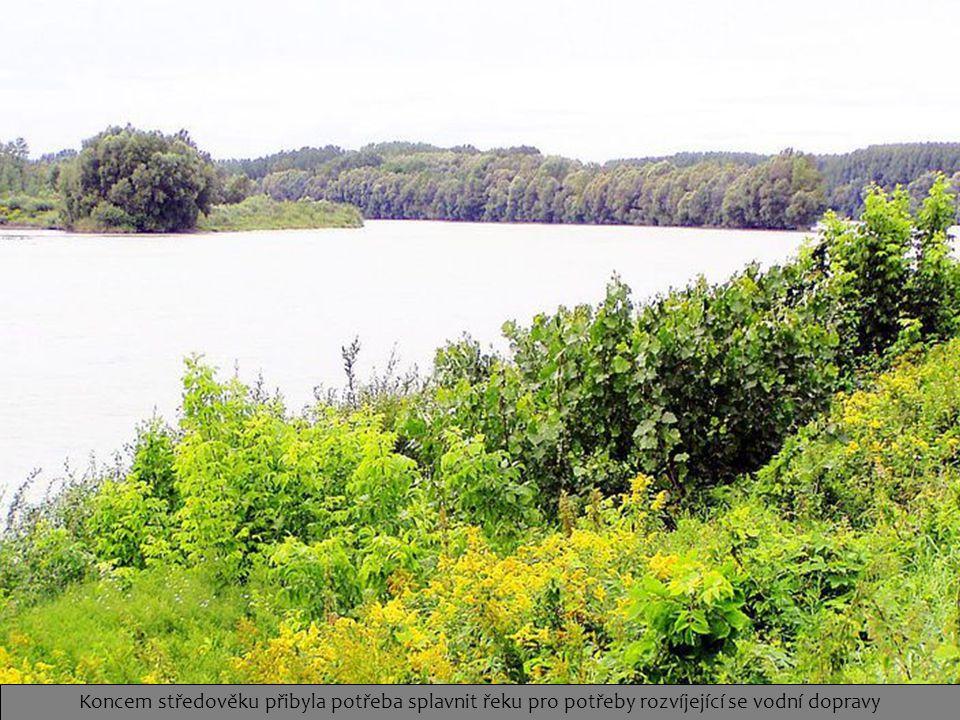 Koncem středověku přibyla potřeba splavnit řeku pro potřeby rozvíjející se vodní dopravy