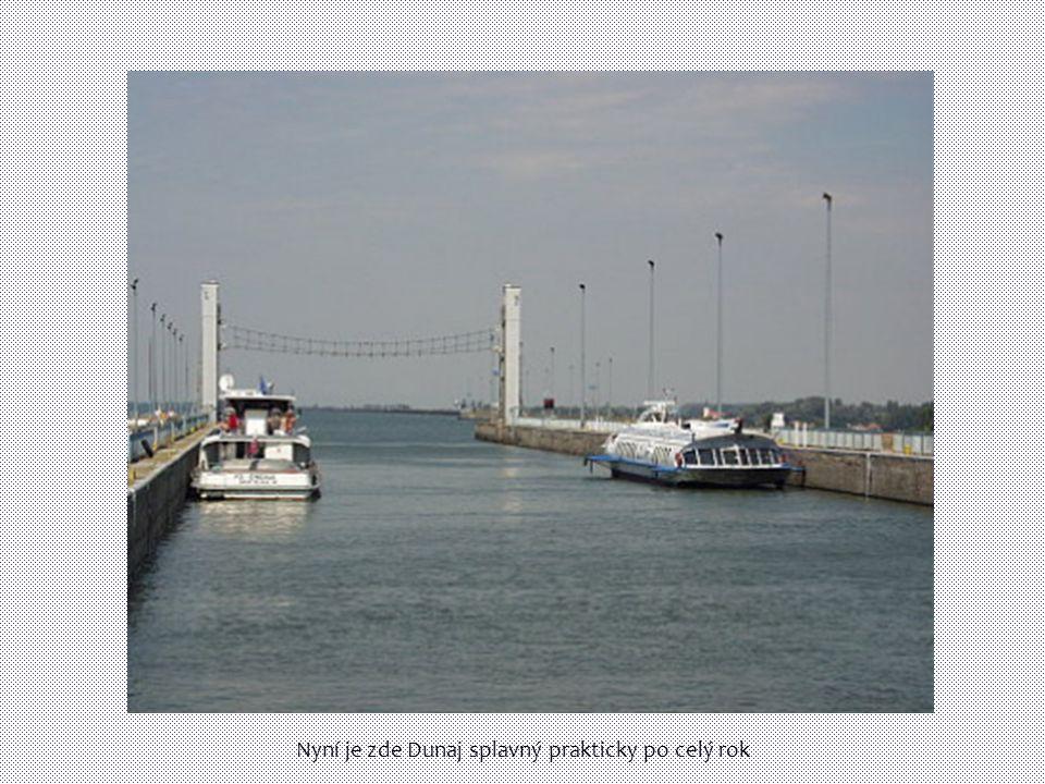 Nyní je zde Dunaj splavný prakticky po celý rok