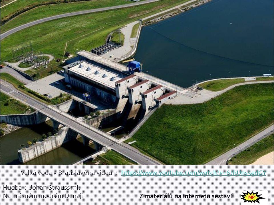 Velká voda v Bratislavě na videu :