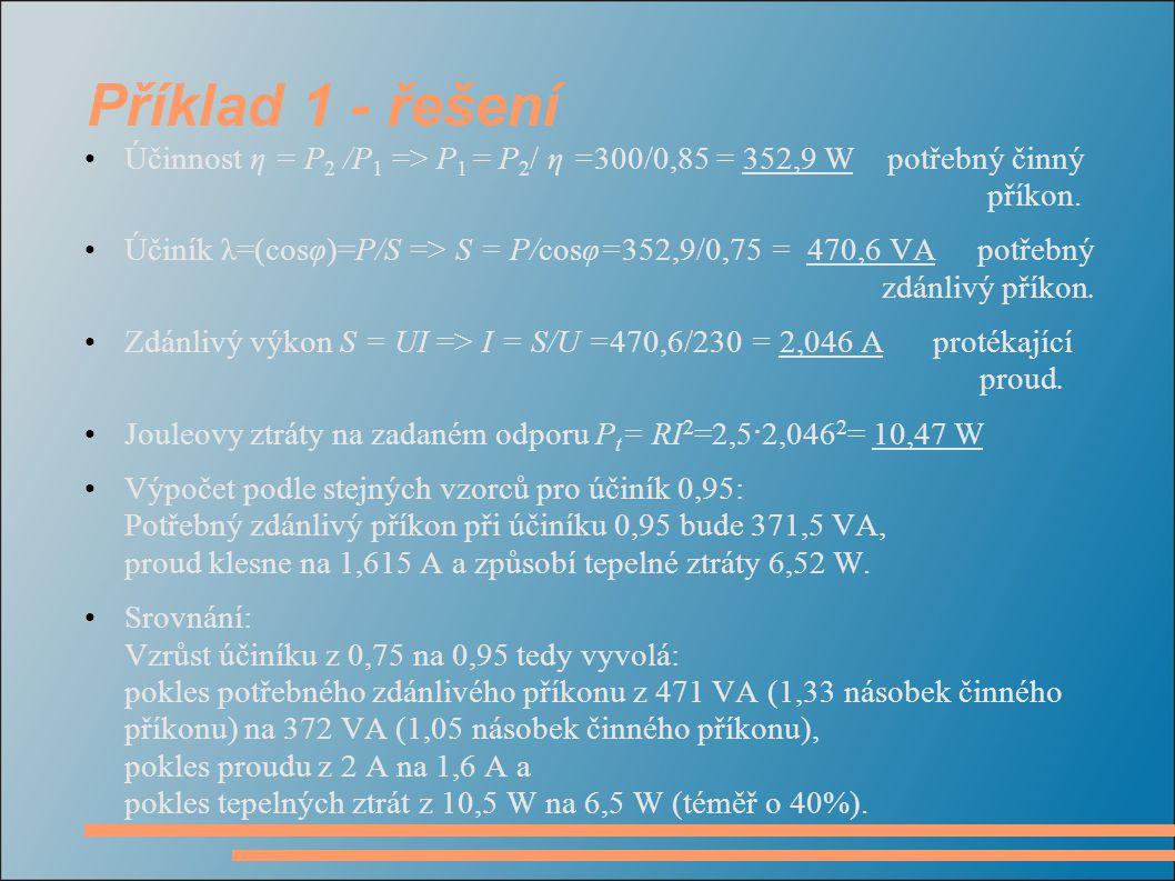 Příklad 1 - řešení