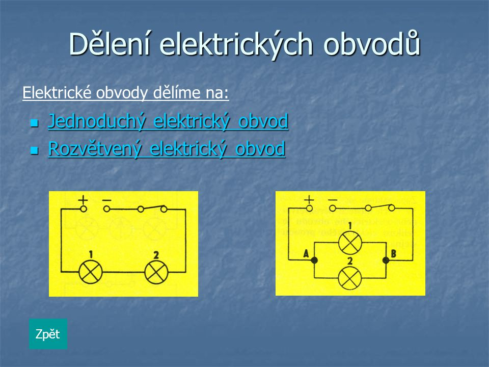 Dělení elektrických obvodů