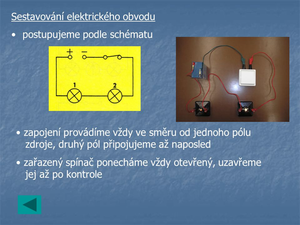 Sestavování elektrického obvodu