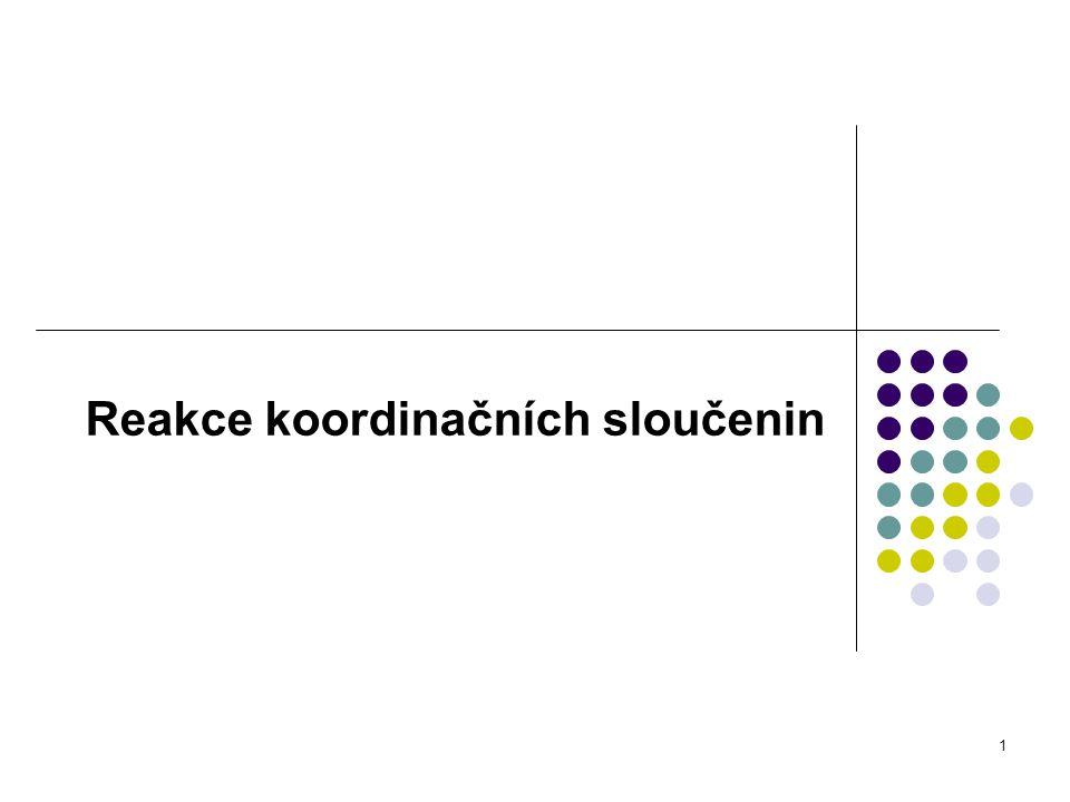Reakce koordinačních sloučenin