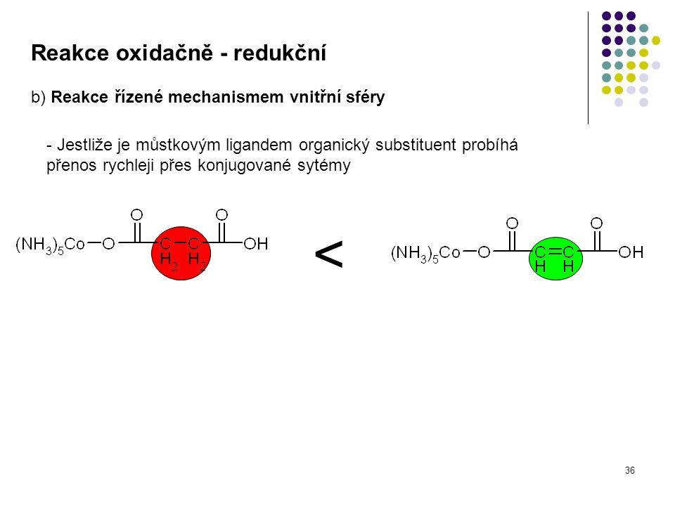 < Reakce oxidačně - redukční