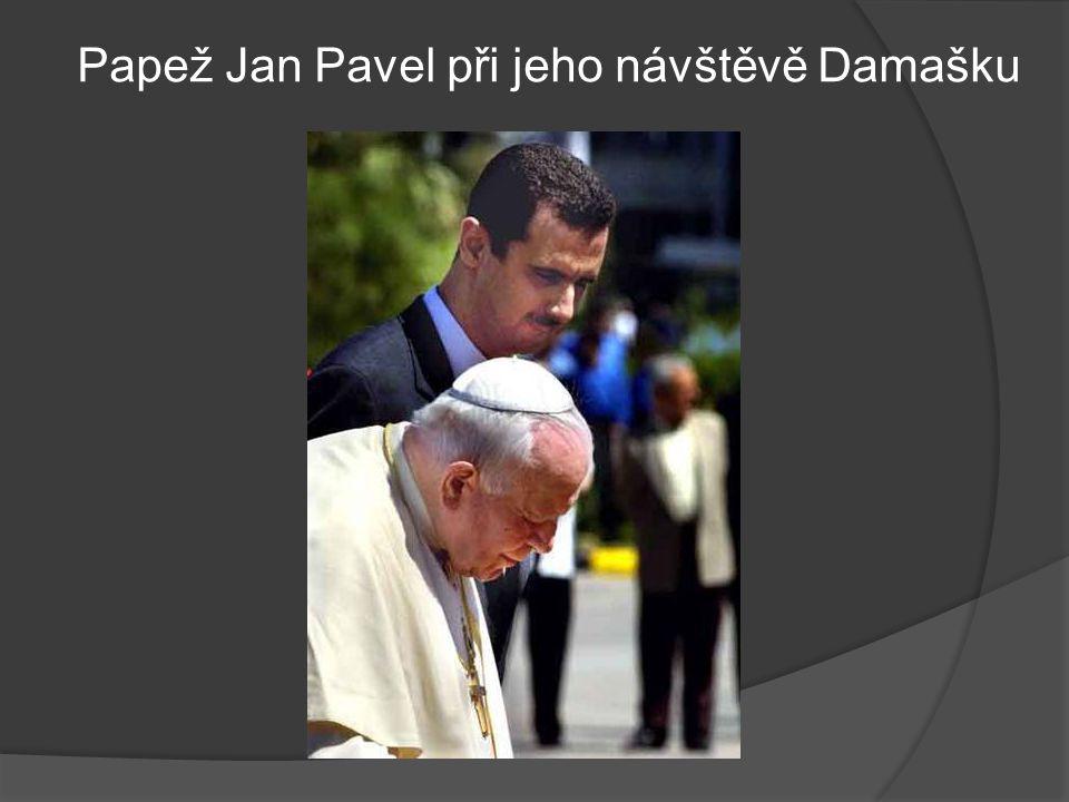 Papež Jan Pavel při jeho návštěvě Damašku