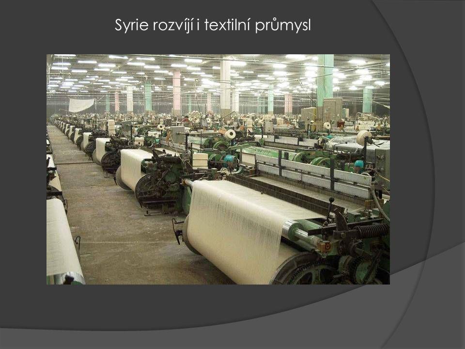 Syrie rozvíjí i textilní průmysl