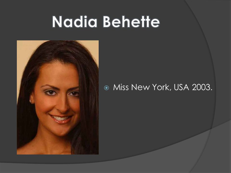Miss New York, USA 2003.