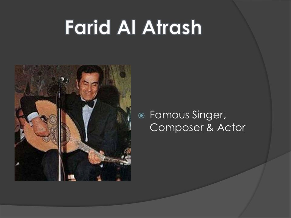 Famous Singer, Composer & Actor
