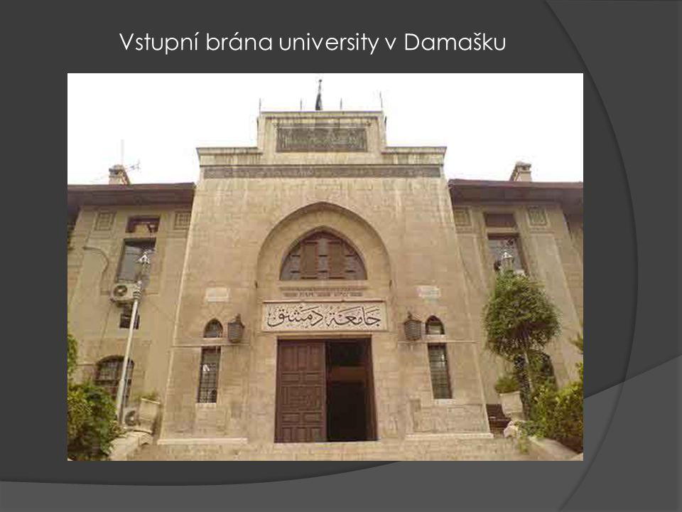 Vstupní brána university v Damašku