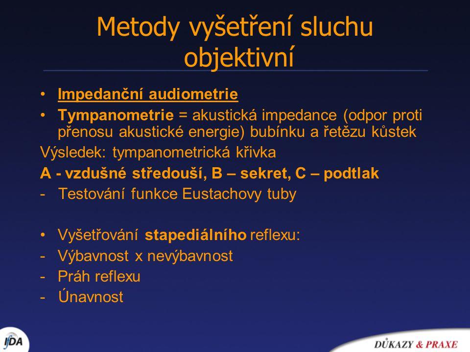 Metody vyšetření sluchu objektivní