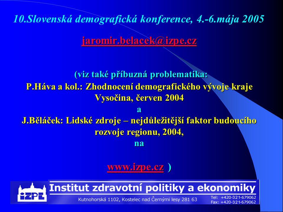 10.Slovenská demografická konference, 4.-6.mája 2005