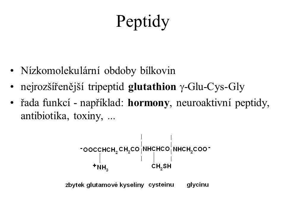 Peptidy Nízkomolekulární obdoby bílkovin