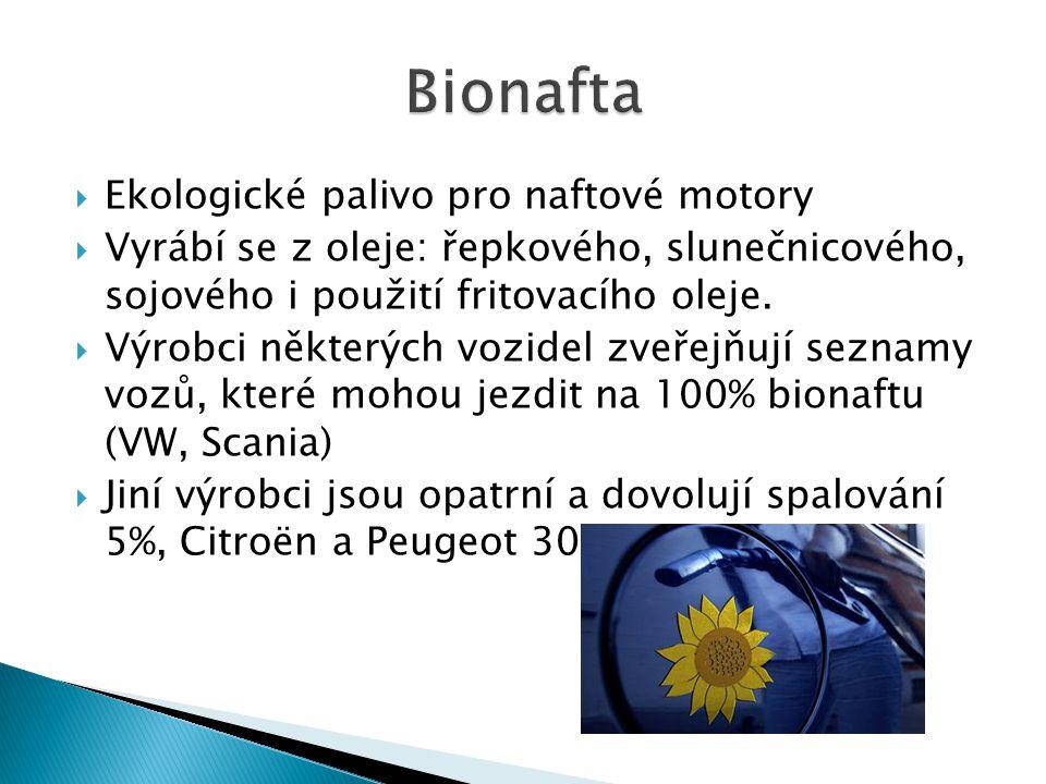 Bionafta Ekologické palivo pro naftové motory