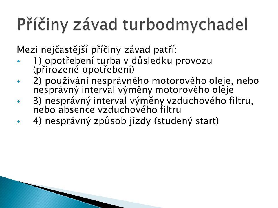 Příčiny závad turbodmychadel