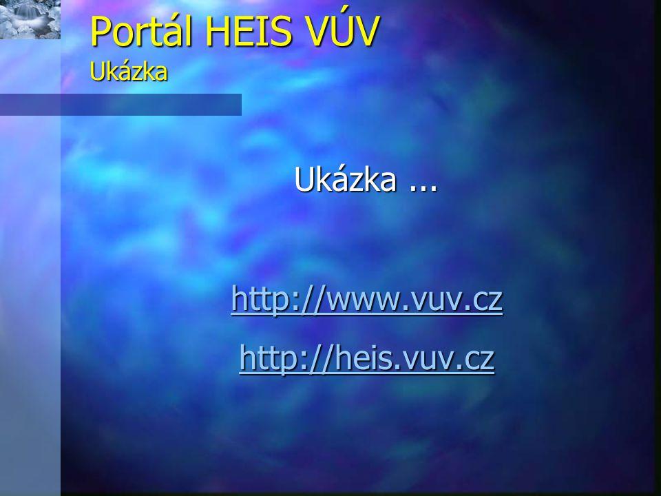 Portál HEIS VÚV Ukázka Ukázka ... http://www.vuv.cz http://heis.vuv.cz