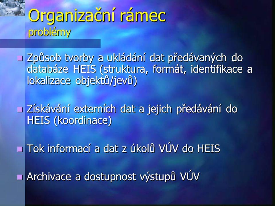 Organizační rámec problémy