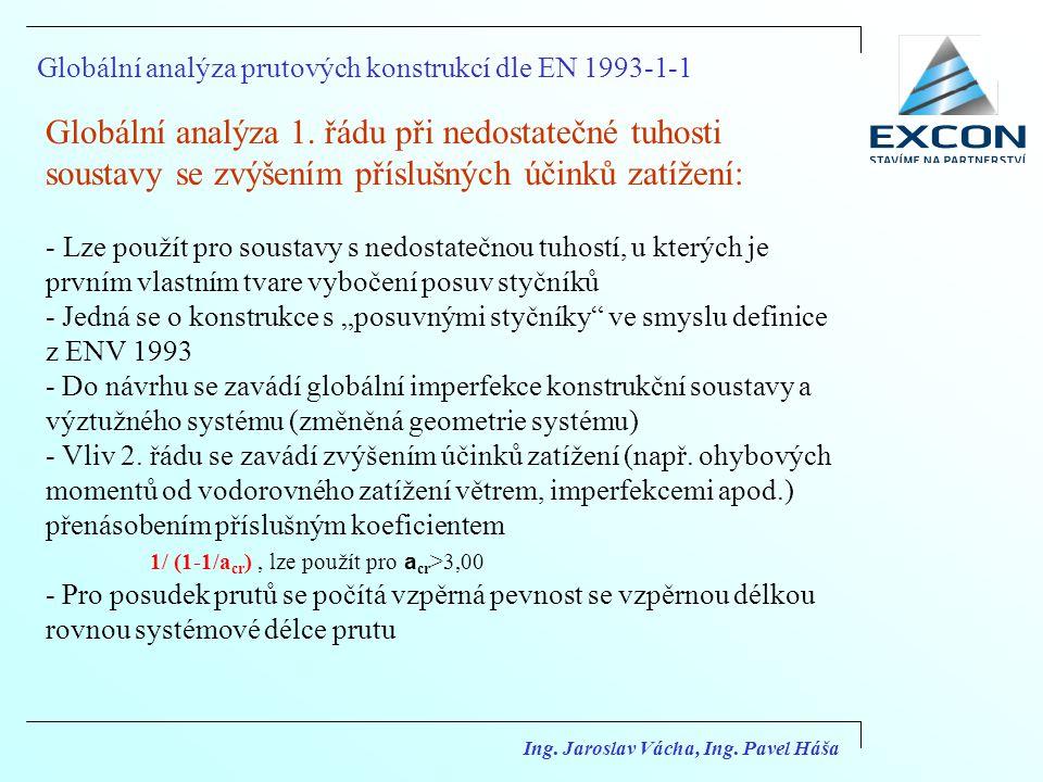 Globální analýza prutových konstrukcí dle EN 1993-1-1