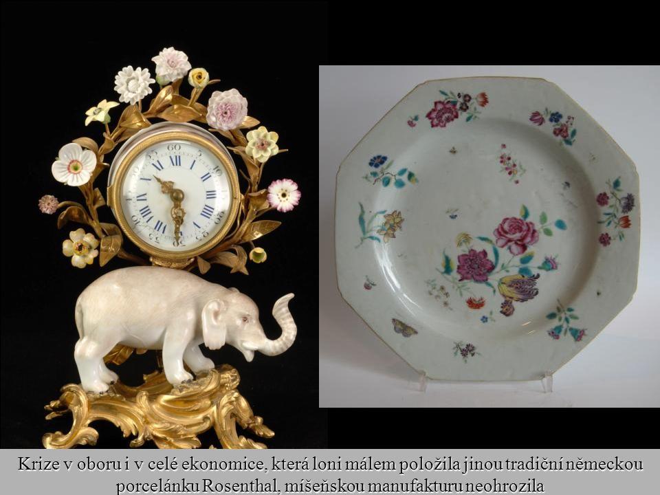 Krize v oboru i v celé ekonomice, která loni málem položila jinou tradiční německou porcelánku Rosenthal, míšeňskou manufakturu neohrozila