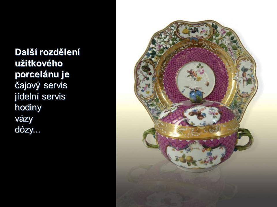 Další rozdělení užitkového porcelánu je