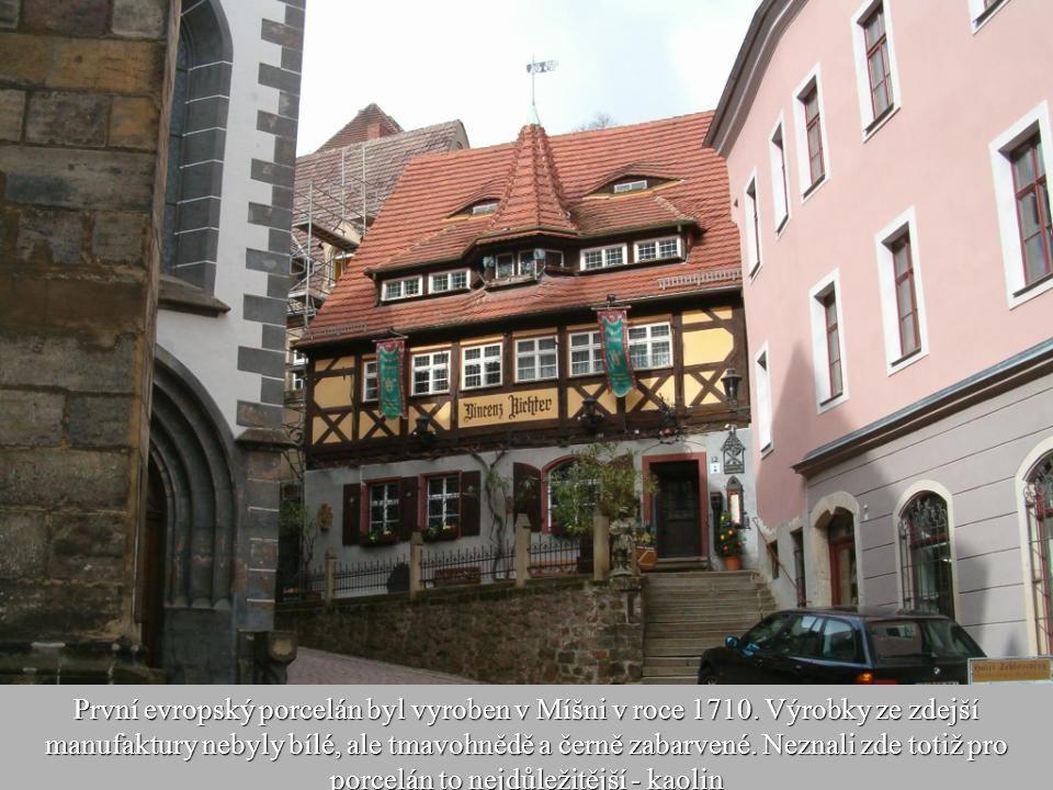 První evropský porcelán byl vyroben v Míšni v roce 1710